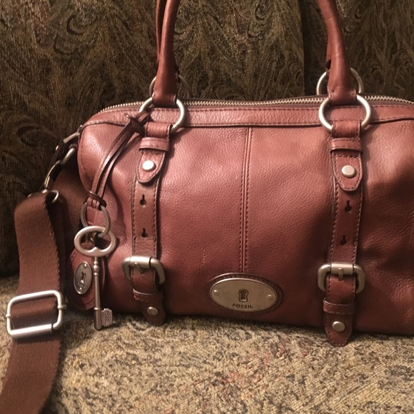 12d3878dd93e Fossil Handbags - Fossil Maddox Leather Satchel
